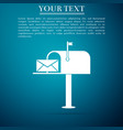 open mail box with an envelope icon isolated vector image vector image