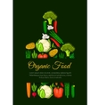 Organic vegetables food emblem