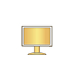 PC monitor computer symbol vector image vector image