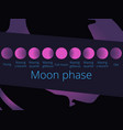 phases of the moon from the crescent to full moon vector image vector image