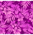 Pink tropical flowers seamless pattern vector image