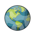 planet earth icon image vector image vector image