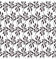 plant branch leaves natural seamless pattern vector image