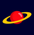 red planet icon flat style vector image vector image