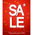 Sale inscription on the red background vector image vector image