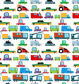 Seamless pattern with cartoon cars