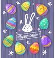 set easter eggs cute vector image