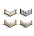 set fence sections vector image vector image