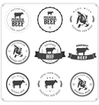 Set of premium beef labels and badges vector image vector image