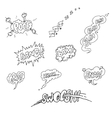 Set of Sketch Comics Phrases and Effects vector image