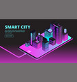 smart city technology intelligent buildings in vector image vector image