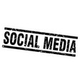 square grunge black social media stamp vector image vector image