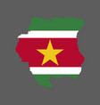 suriname flag and map vector image