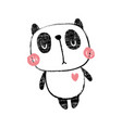 textured panda body vector image