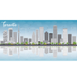 Toronto skyline with grey buildings vector image vector image