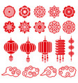 traditional chinese and japanese decorative design vector image vector image