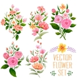 watercolor vintage bunch flower vector image vector image