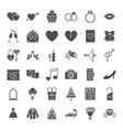 Wedding Solid Web Icons vector image vector image