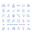 Winter sport gradient outline icons Seasonal vector image vector image