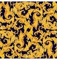 Golden seamless victorian baroque vector image