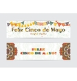 Cinco de Mayo fifth of May Day banners set vector image
