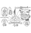 line icons set for memorial day in usa vector image
