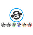 2017 stamp rounded icon vector image
