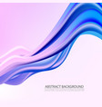 3d abstract background colorful wave shapes vector image vector image