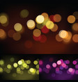 abstract circles bokeh background vector image