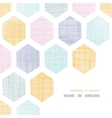 Abstract colorful honeycomb fabric textured frame vector image vector image
