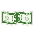 abstract waved dollar vector image vector image