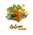 autumn camping vector image