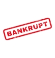 Bankrupt Text Rubber Stamp vector image