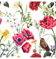 beautiful floral summer seamless pattern vector image vector image