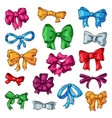 bow bowknot or ribbon for decorating gifts vector image