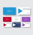 business card template in a minimalist style with vector image vector image