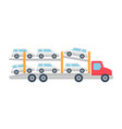 car carrier truck icon vector image vector image