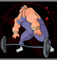 cartoon funny muscular male athlete getting ready vector image