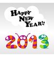 Cartoon Happy New Year 2013 vector image