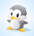 cartoon penguin vector image vector image