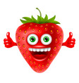 cheerful strawberry vector image vector image