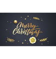 christmas greeting card black background design vector image vector image