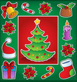 christmas theme greeting card 1 vector image