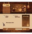 Coffee grunge retro web site vector image