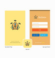 company hunted house splash screen and login page vector image