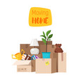 concept for home moving vector image vector image