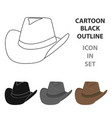 cowboy hat icon cartoon singe western icon from vector image vector image