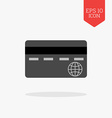Credit card icon Flat design gray color symbol vector image vector image