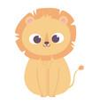 cute little lion animal cartoon isolated design vector image