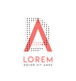 da modern logo design with gray and pink color vector image vector image